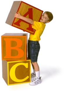 Webfootsolutions - boy with blocks image