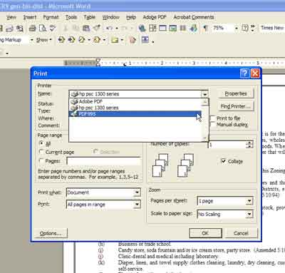 create autofill pdf from dropdown selection